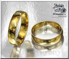 Złote obrączki klasyczne półokrągłe grawer złoto wesele Jubiler Tychy
