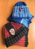 Шапка и шарф, набор RASTER (Польша) на мальчика ( р. 54-56)