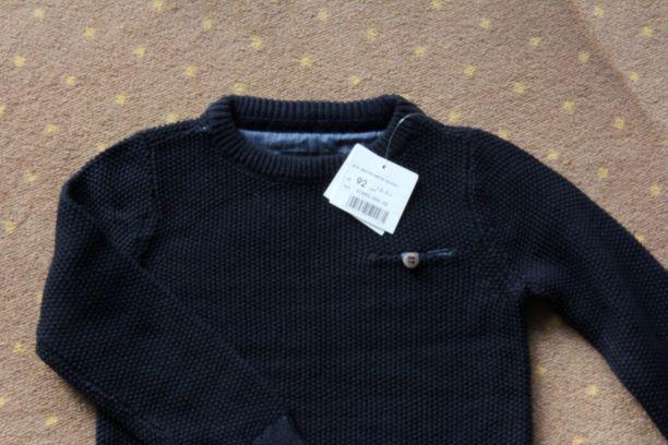 Nowy klasyczny granatowy sweterek r.92 Reserved Warszawa - image 2