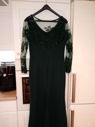 Sukienka zieleń butelkowa 38