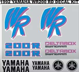 92 Yamaha WR 200 RD stickers decals vinyl cut graphics