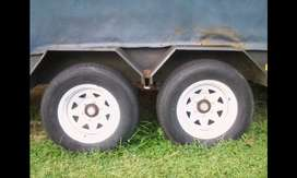 Diamond Trailer, 2.7 ton, 7meter lenth, double axle 15 inch wheels.