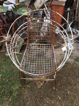 Vintage wire chairs