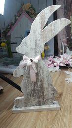 Duży królik do sesji dekoracja drewniany zając