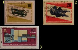 Znaczki pocztowe, NRD 1966_1972, różne serie