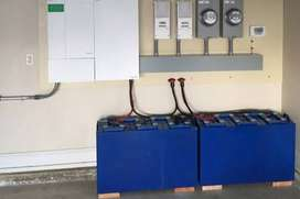 PV solar, backup battery and gyser/pool pump timer switch installation