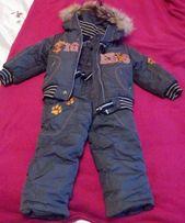 Детский зимний комплект на мальчика (комбинезон+куртка)