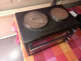 2 plate stove with mini oven