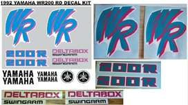 1992 Yamaha WR 200 decals stickers vinyl cut graphics kit