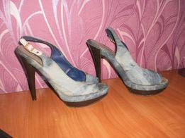 Джинсовые босоножки туфли