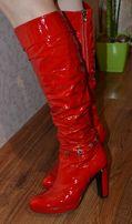 женские кожаные сапоги/сапожки/жіночі шкіряні чоботи
