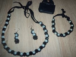 Ожерелье + серьги+браслет.