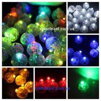 Светодиоды 100шт белые для воздушных шариков воздушные светящиеся шары