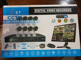 8 channel CCTV H.264 security complete system.