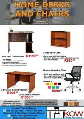 OFFICE FURNITURE,BOARDROOM TABLES,DESKS,STUDY DESKS AND CHAIRS.