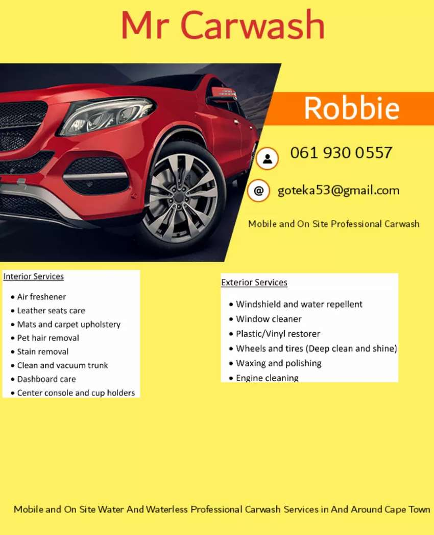 Mobile Carwash and Valet Services 0