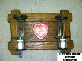 Red Heart Rum Liquor Dispenser with 2 Optics Brand New Products.