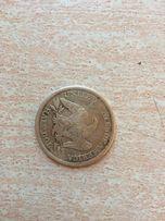 Продам монету срібну 1859р.США