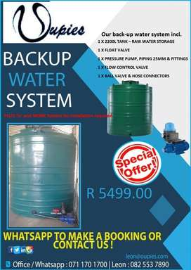 Eco / Jojo Municipal Backup Water Tank System