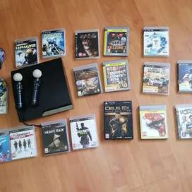 PS3 with all games and move contollers