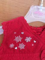 Праздничное вельветовое платье со снежинками