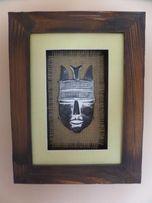 Okazja Obraz w ramce, drewno.