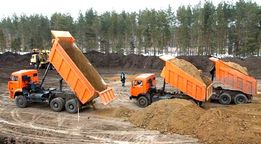 Размещение грунта и боя камня-бетона-кирпича.
