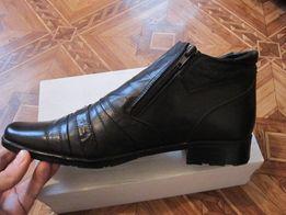 Продам НОВЫЕ мужские зимние кожаные ботинки(сапожки) 41 размер