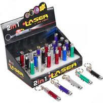 Лазер-Брелок 2 в 1, лазерная указка, фонарик