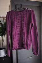 sweter vintage fioletowy