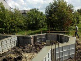 Фундамент,заливка бетону