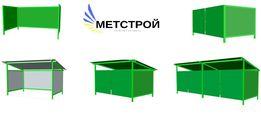 площадки для мусора,металлоконструк для мусорных баков,контейнеров ТБО