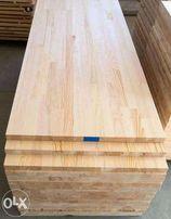 Мебельный щит из сосны для столешниц 38х600х2000 мм