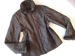 BARISAL kurtka przejsciowa pikowana z futerkiem r. 42/44