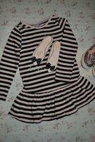 Модная платье-туника для девочки!На 2-3 года!