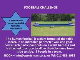 Book Human Foosball with Sportsman Events
