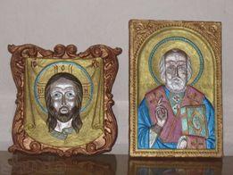 иконы-шамотная глина, шкатулки- ручная работа
