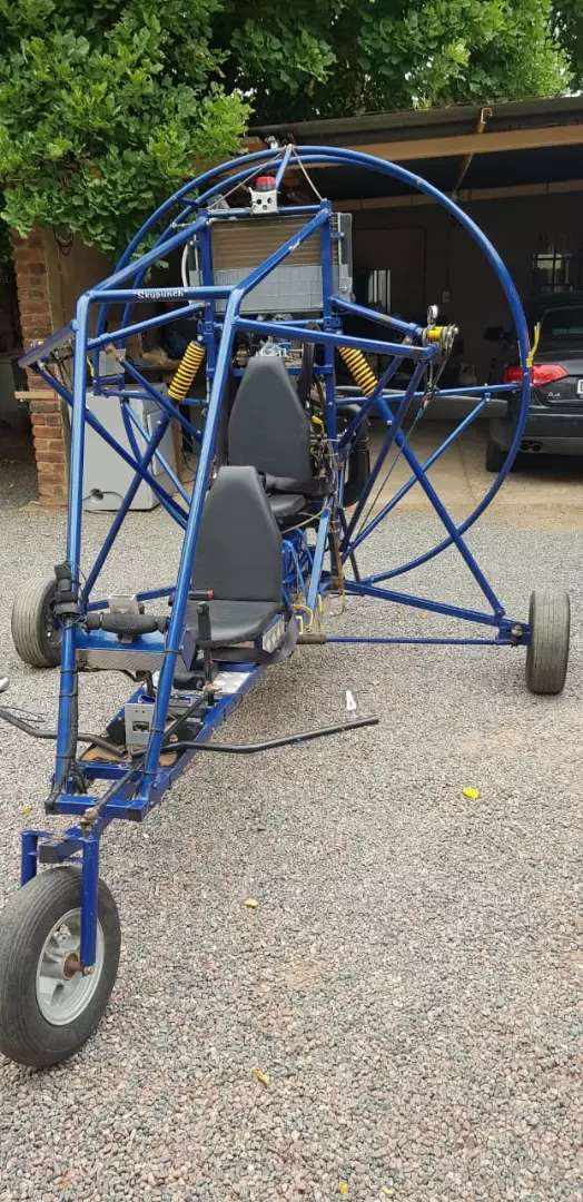 Paraglider with wing and spare motor 0