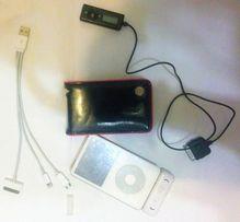iPod 60 gb Белый + колонка(динамики микро) + FM радио + модный чехол