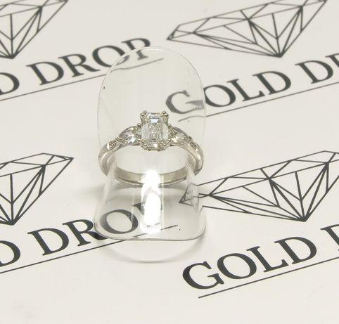 Białe złoto 0,750. Pierścionek z brylantami 1,50 carat. Zaręczynowy. Szczecin - image 8