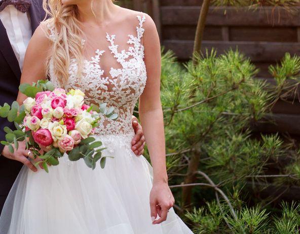 suknia ślubna piękna włoska rozmiar 38 Częstochowa - image 3