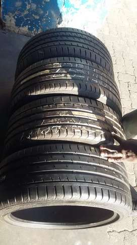 4 × 235/40/19 continental contact sports 3 tyres for sale