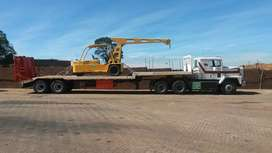 Transport of rolling stock, machinery and equipment, bales and fodder