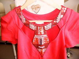 Oryginalna czerwona sukienka