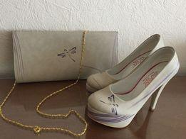 2 в 1 ! Новые женские Туфли + Клач Goby! размер 37