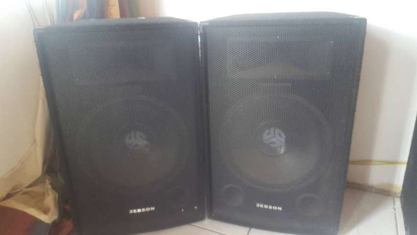 2×JEBSON 12 insh speakers for sale 0