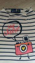 Koszulka 5-10-15, styl marynarski, dla małej damy !