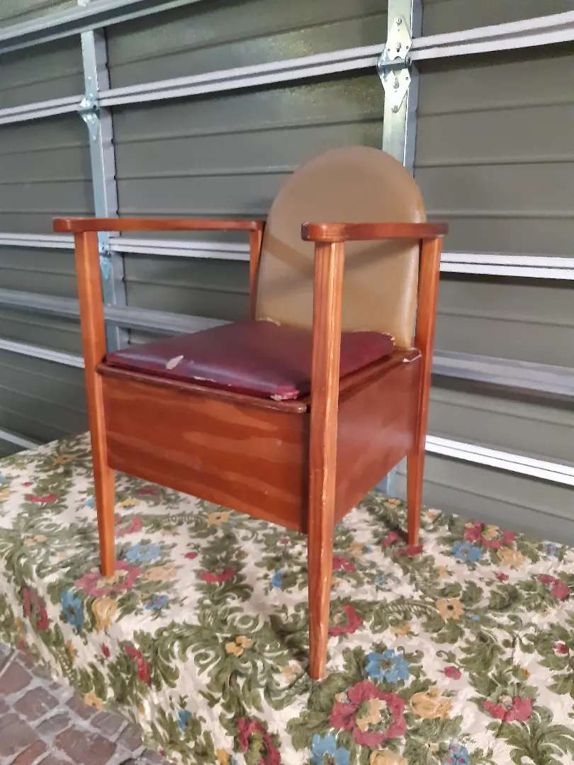 Vintage wooden commode for the elderly