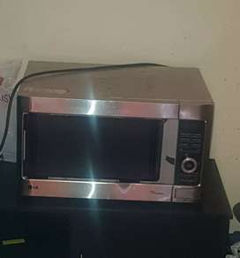 Bed, Fridge and microwave