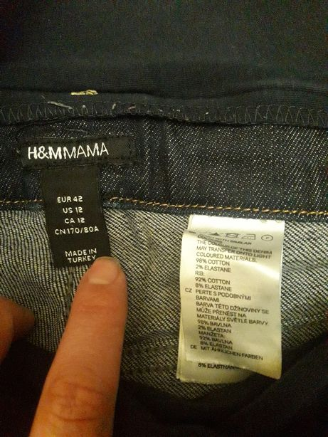 Стильные брюки джинсы для беременных H&Mmama eur 42, us 12 Киев - изображение 5